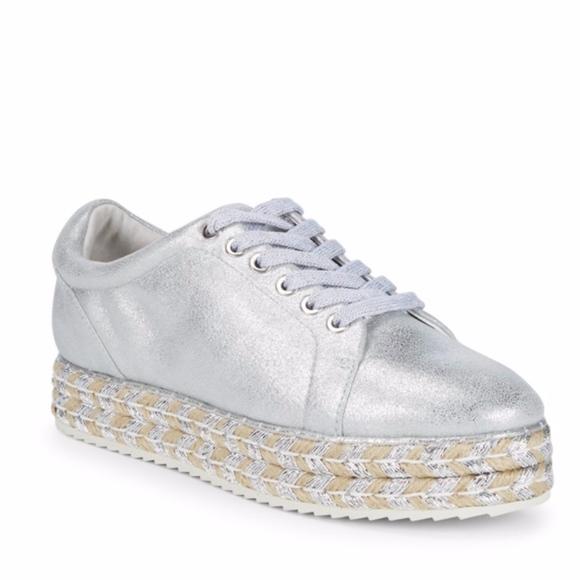 32210f2f0842a Alex + Alex Silver Leather Espadrille Sneaker